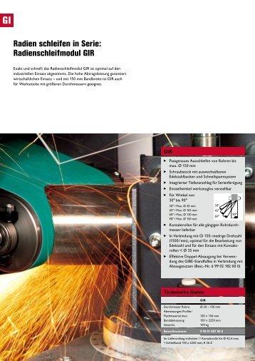 Radien schleifen in Serie: Radienschleifmodul GIR - SATB GmbH