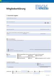 Mitgliedserklärung als PDF - bei der BKK exklusiv