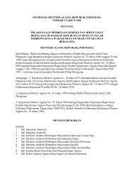 Instruksi Menteri Agama No. 3 Tahun 1981 Tentang Pelaksanaan ...
