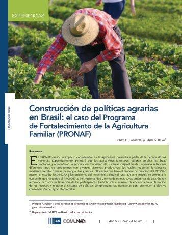Construcción de políticas agrarias