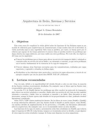 Arquitectura de Redes, Sistemas y Servicios
