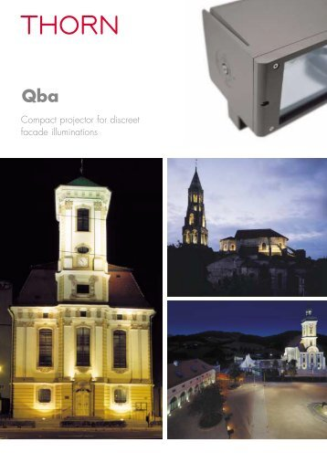 Compact projector for discreet facade illuminations - Thorn Lighting