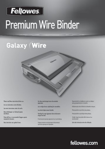 Premium Wire Binder - Fellowes