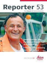 Reporter Nr. 53, Juli 2005 Deutsch (PDF, 3.8 MB) - Leica Geosystems
