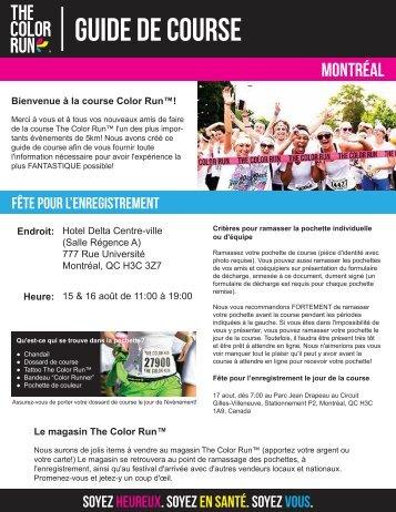 Download Your Montréal Pre-Race Docs Here! - The Color Run