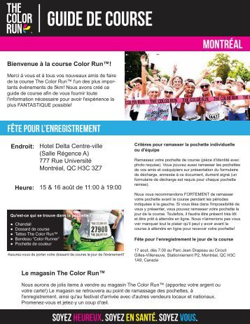 Download Your Montréal Pre-Race Docs Here! - The Color Run