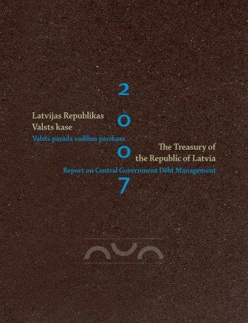 2007.gada parāda vadības pārskats - Valsts kase