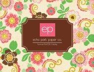 Summer/Fall 2010 Catalog - Echo Park