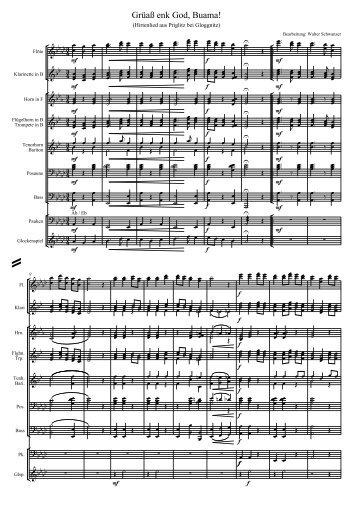 Grüass enk God Buama.pdf - Walter Schwanzer Musikverlage