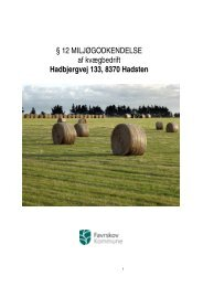 § 12 MILJØGODKENDELSE af kvægbedrift Hadbjergvej 133, 8370 ...