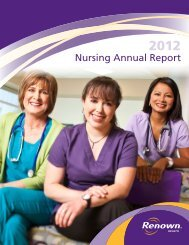 Nursing Annual Report 2012 (PDF) - Renown Health