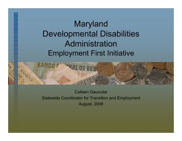 Maryland's Employment First Initiative