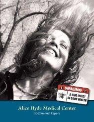 2007 Annual Report - Alice Hyde Medical Center