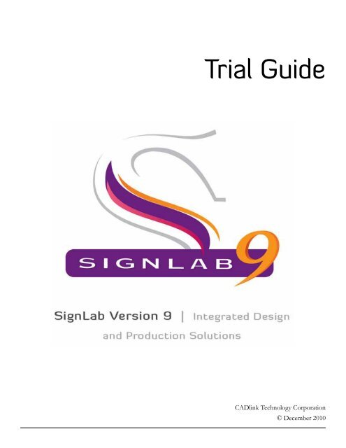 Download signlab 9. 1 trial guide cadlink.