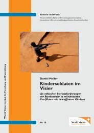 Kindersoldaten im Visier - World Vision Institut