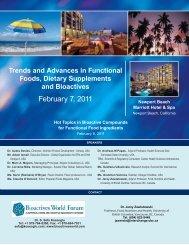 Functional Foods - 10_newport_beach 12-15 ... - Bioactives World