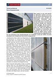 Textile Fassadensysteme - ZiTex
