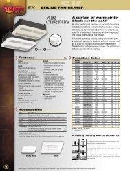 CEILING FAN HEATER - Electric Bathroom Heaters