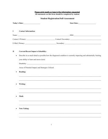 Henry Timrod Elementary School Student Self-Assessment ...