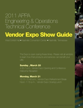 Vendor Expo Show Guide - American Public Power Association