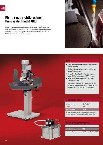 Richtig gut, richtig schnell: Rundschleifmodul GXC - SATB GmbH