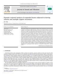 Dynamic response analysis of suspended beams subjected to ...
