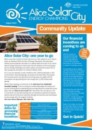 Community newsletter - August 2012 - Alice Solar City