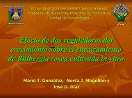 Efecto de dos reguladores del crecimiento sobre el ... - CEDAF