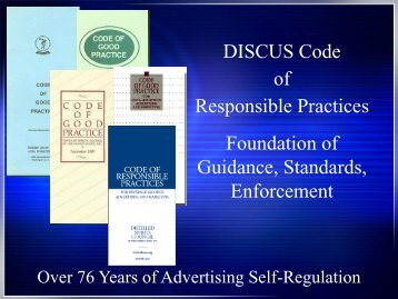 DISCUS Code of Responsible Practices Foundation of Guidance ...