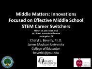 Middle Matters: Innovations Focused on Effective Middle School ...