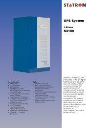 UPS System S4100 - Statron