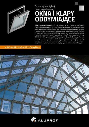 Ulotka Okna i klapy oddymiające - Aluprof SA