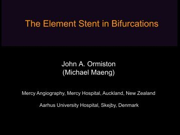 The Element Stent in Bifurcations - Bifurc.net