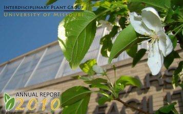 annual report - Interdisciplinary Plant Group - University of Missouri