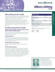 Bilberry 6000mg Product Detail Sheet - Standard Process