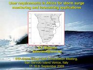 User requirements in Africa for storm surge monitoring and ...