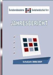Jahresbericht 2008/09 - BHAK/BHAS Horn