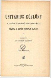 1903 - Magyarországi Unitárius Egyház