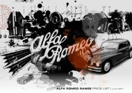 ALFA ROMEO RANGE PRICE LIST | JULY 2011