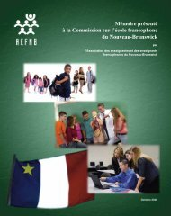 Mémoire présenté à la Commission sur l'école francophone du ...