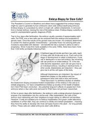 Embryo Biopsy for Stem Cells?