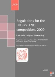 Regulations for the INTERSTENO competitions 2007