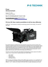 Press Announcement - P+S TECHNIK