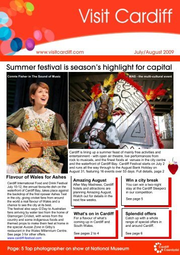 090601 July Aug Newsletter - Visit Cardiff