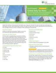 Global Daily Tax News - CCH