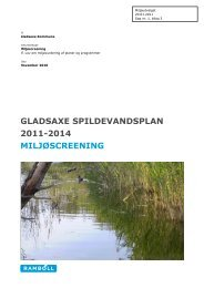 Miljøvurdering, screening, Forslag til Spildevandsplan 2011-2014