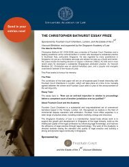 the christopher bathurst essay prize - Singapore Academy of Law