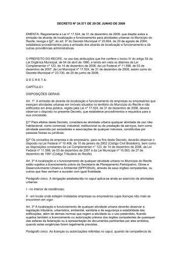 DECRETO Nº 24.571 DE 29 DE JUNHO DE 2009 EMENTA ...