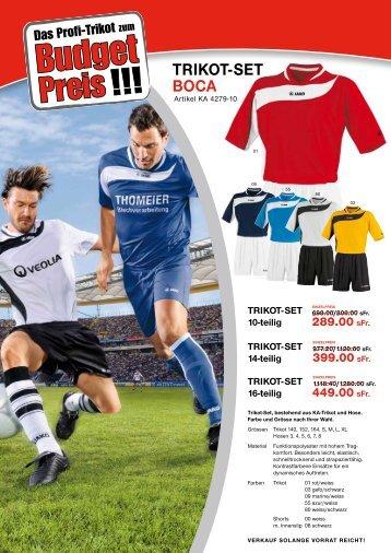 trikot-set Boca - Swiss Sportsystem