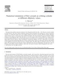 Numerical simulation of flow around an orbiting cylinder at different ...